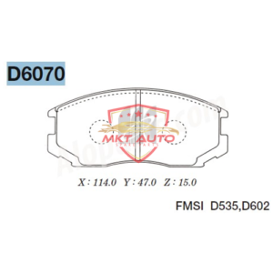 Bố thắng trước Daihatsu Terios D6070 chính hãng thương Hiệu MK Nhật Bản